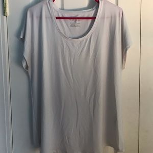 Chico's White Polyester Shirt Sleeved Shirt